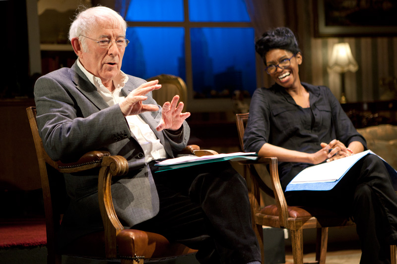 Seamus Heaney and Jenny Jules portrait