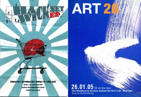 Hackney Wicked 2011 and ART 26 flyers